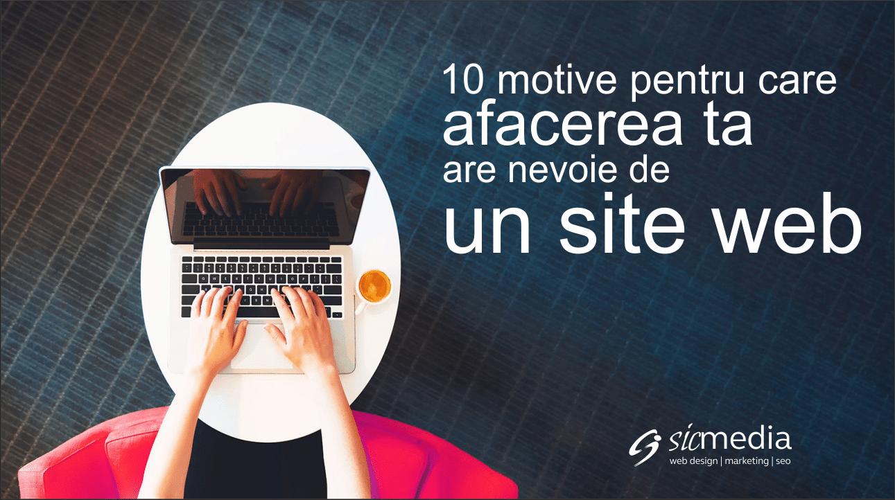 10 motive pentru care afacerea ta are nevoie de un website